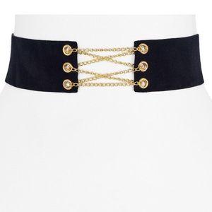 NORDSTROM AQUA Kylie corset choker necklace